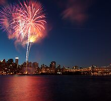 100th Queensborough Bridge  Fireworks by Arianys Wilson