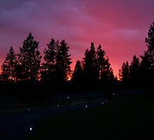 Blazing Oregon Sunset, the Calm Before the Storm by kristalmania