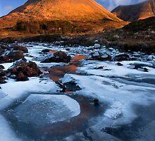 Glamaig in Winter, Sligachan.  Isle of Skye. Scotland. by photosecosse /barbara jones