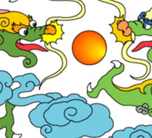 Chinese Dragon T-Shirt Sticker