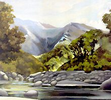 Gunn Range from Butler River by Patricia Howitt