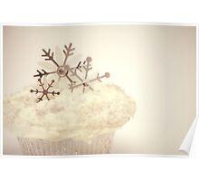 Snowflake Cupcake Poster
