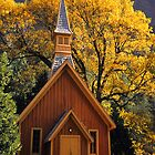 Yosemite Chapel in the Fall by Floyd Hopper