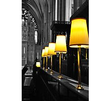 lamps, bristol cathedral, england Photographic Print