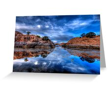 Reflection on the Rocks Greeting Card