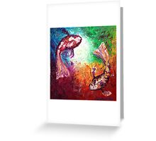 The Two Koi Greeting Card