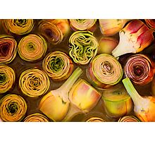 Artichokes in brine, Street market in Castelfranco, Italy Photographic Print