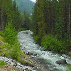 "Fraser River Tributary  (2009)  - 18""x24"" max print size by John Fraser"