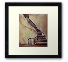 Cat on the Stairs Framed Print