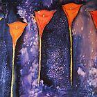 orange arums by anngramat