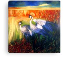 "crane ""balearica pavonina"" Canvas Print"
