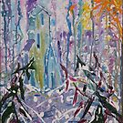 Porcupine Sentinal on Morning snows 16 x20 acrylic by eoconnor