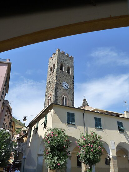 Monterosso (Cinque Terre) The belltower of the Parrish Church of Snt. John The Baptist by presbi