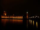Palace and Bridge - Westminster at night by Themis