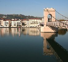 Bridge over the Rhone at Vienne by Laurel Talabere