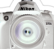 Nikon D70s Welcome to the Dark Side - Nikon DSLR Users Group Shirt Sticker