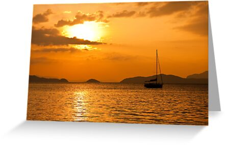 Andaman Sea Sunset by Nickolay Stanev