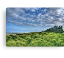 """Bamburgh Castle, Untamed Landscape"" Canvas Print"