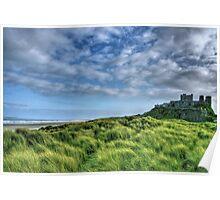 """""""Bamburgh Castle, Untamed Landscape"""" Poster"""