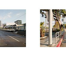 Flower Street + Pico Boulevard, Downtown, Los Angeles, California, USA...narrowed. by David Yoon