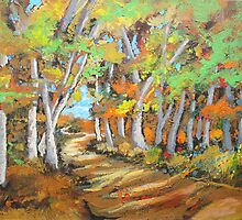 Autumn Country Path by wagnerart