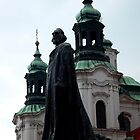 Jan Hus statue in Prague by polanri