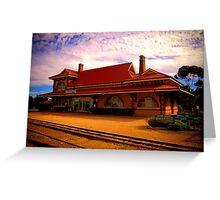 Moonta Railway Station Greeting Card