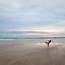 Yoga on the beach - St. Ouen's Bay, Jersey, C.I by Zoë Power