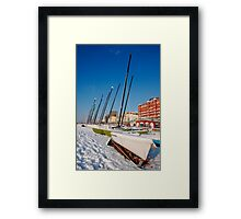 Snowy seafront II Framed Print