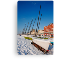 Snowy seafront II Canvas Print