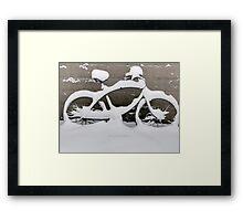 snowbike5 Framed Print