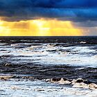 Sunbeams and sea by David Bradbury