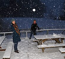 Snowball fight at Glentress near Peebles by photobymdavey