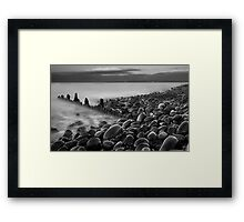 B+W Old Groyne Framed Print