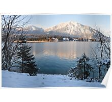 Lake and Snow Poster
