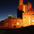 Flour Mills by Night by Kazzii