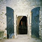 Bellinzona. Castle Door. Ticino, Switzerland 2005 by Igor Pozdnyakov