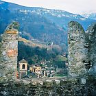 Bellinzona. Castelgrande Castle Wall. Ticino, Switzerland 2005 by Igor Pozdnyakov
