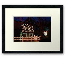 Gingerbread House Framed Print