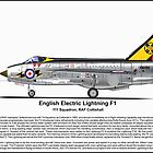 English Electric Lightning F1A by coldwarwarrior
