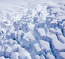 Glacier From Above - Fox Glacier, South Island, New Zealand by Leigh Voges
