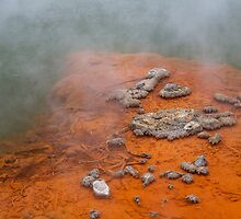 Champagne Pool - Wai-O-Tapu, North Island, New Zealand by Leigh Voges