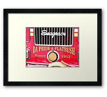 Old Fire Truck Framed Print