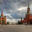 The Red Square in Moscow, Russia by Mikhail Kovalev