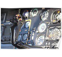 Helicopter gauges close up puma Poster