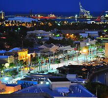 Townsville, Queensland, Australia at night. Capital of Far North Queensland by Geoff Beck