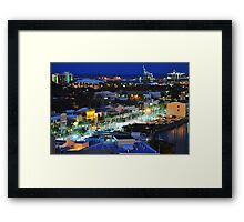 Townsville, Queensland, Australia at night. Capital of Far North Queensland Framed Print