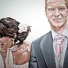 Chris and Francis wedding portrait by artist Debbie Boyle - db artstudio by Deborah Boyle