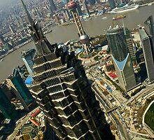 Jinmao Tower Vs. Shanghai Oriental Pearl Tower by Ruben D. Mascaro