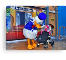 Rosalie meets Donald Duck Canvas Print